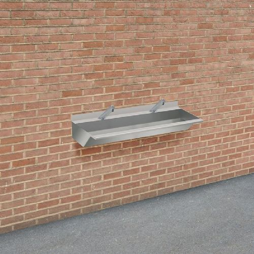 H&L Outdoor 1200mm Stainless Steel Wash Trough with No-Touch Taps